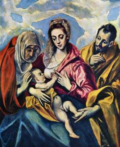 El Greco Holy Family with St. Anne 1605
