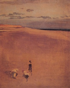 James McNeill Whistler the-beach-at-selsey-bill 1865