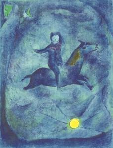 Mounting the ebony horse...1948