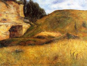 Paul Gauguin Quarry hole in the cliff 1882