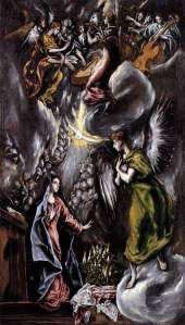 The Annunciation EL GRECO (1596-1600)