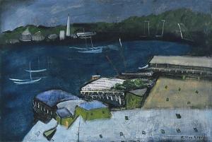 Avery_Milton-Harbor_at_Night