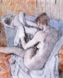 Edgar Degas the-toilette-after-the-bath 1890