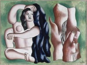 Fernand Leger the-bather-1932