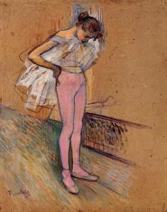 Henri de Toulouse-Lautrecdancer-adjusting-her-tights-1890