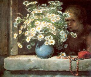 Jean-Francois Millet the-bouquet-of-margueritas-1866
