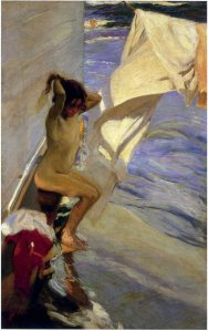 Joaquín Sorolla before-the-bath-1909