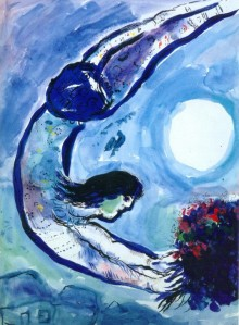 Marc Chagall acrobat-with-bouquet-1963