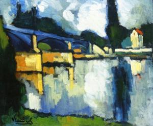 Maurice de Vlaminck the-bridge-at-chatou-1907