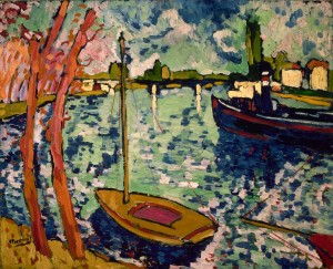 Maurice de Vlaminck the-river-seine-at-chatou-1906
