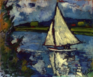 Maurice de Vlaminck white-sailboat-at-chatou 1907