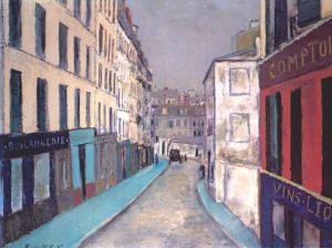 Maurice Utrillo marcadet-street