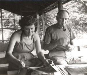 milton and Sally Michel en Milton Avery 1950--lezenindekunst blogspot