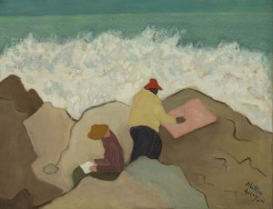 Milton Avery sketching-by-the-sea-1944