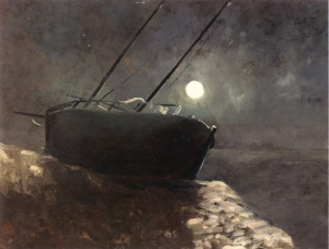 Odilon Redon Boat in the moonlight