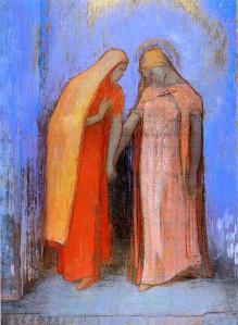 Odilon Redon Mystical conversation