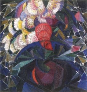 Oleksandr Bogomazov bouquet-of-flowers 1915