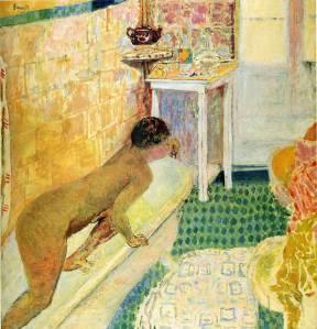 Pierre Bonnard the-exit-of-the-bath 1930
