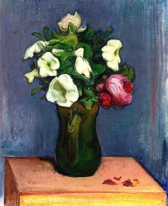 Pitcher of White Flowers and a Rose Wladyslaw Slewinski - 1904 alongtime