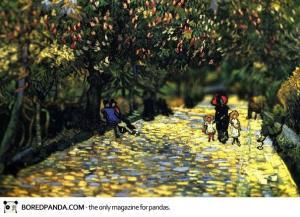 tilt-shift-Red Chestnuts in the Public Park at Arles, 1889