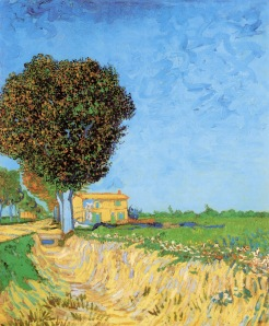 Vincent van Gogh a-lane-near-arles-1888(1)