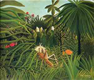 Henri Rousseau jaguar-attacking-a-horse-1910