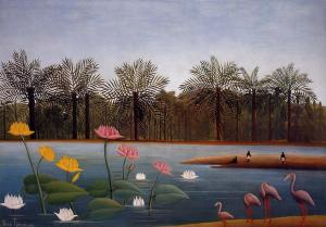 Henri Rousseau the-flamingoes-1907