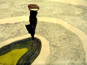 Léon Spilliaert (Belgian, 1881-1946), Femme au bord de l'eau, 1910 oldtimefriend tumblr com