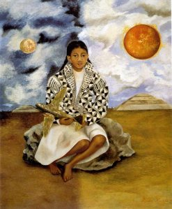 Frida Kahlo portrait-of-lucha-maria-a-girl-from-tehuacan-1942