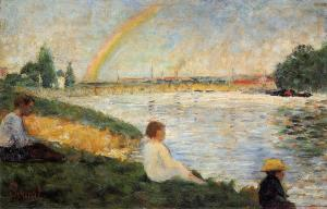 Georges Seurat rainbow-1883