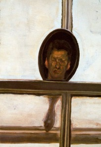 Lucian Freud interior-with-hand-mirror-self-portrait