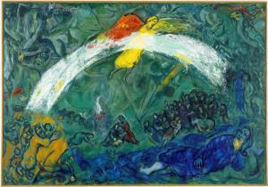 Marc Chagall noah-and-the-rainbow-1966