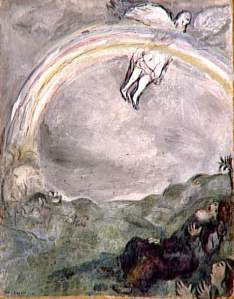Marc Chagall rainbow-in-the-sky-a-sign-of-covenant-between-god-and-earth-1931-1