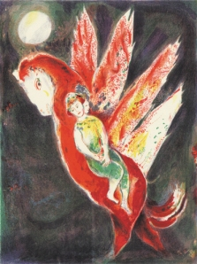 Marc Chagall then-the-old-woman-mounted-on-the-ifrit-s-back-1948