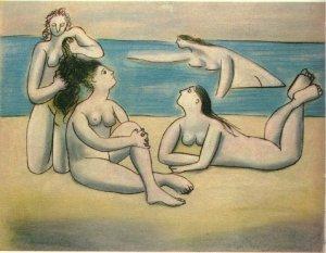 Pablo Picasso bathers-1920