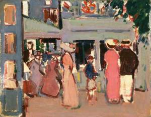 John Duncan Fergusson before-a-caf-paris-1907