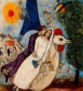 Marc Chagall the-betrothed-and-eiffel-tower-1913