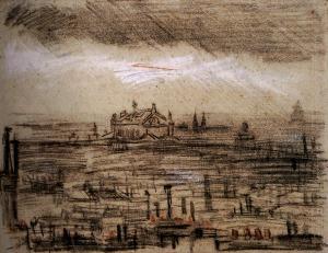 Vincent van Gogh a-view-of-paris-with-the-op-1886(1)