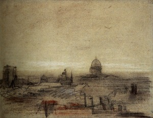 Vincent van Gogh view-of-paris-with-notre-dame-and-the-pantheon-1886