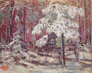 Snow in the Woods Tom Thomson