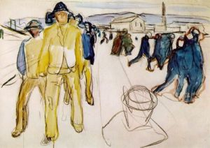Workers on their way home I, 1920